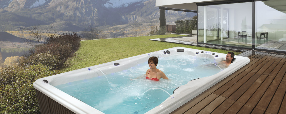 swimmingpool swim spa oder modularer pool. Black Bedroom Furniture Sets. Home Design Ideas