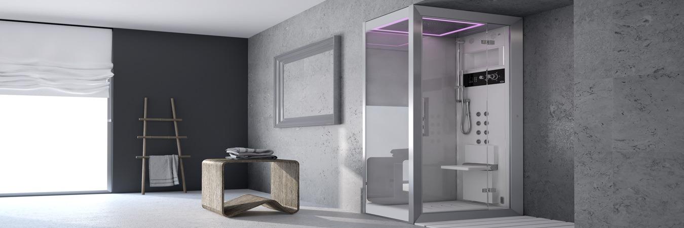 Moderne Spa Dusche 3D Modell