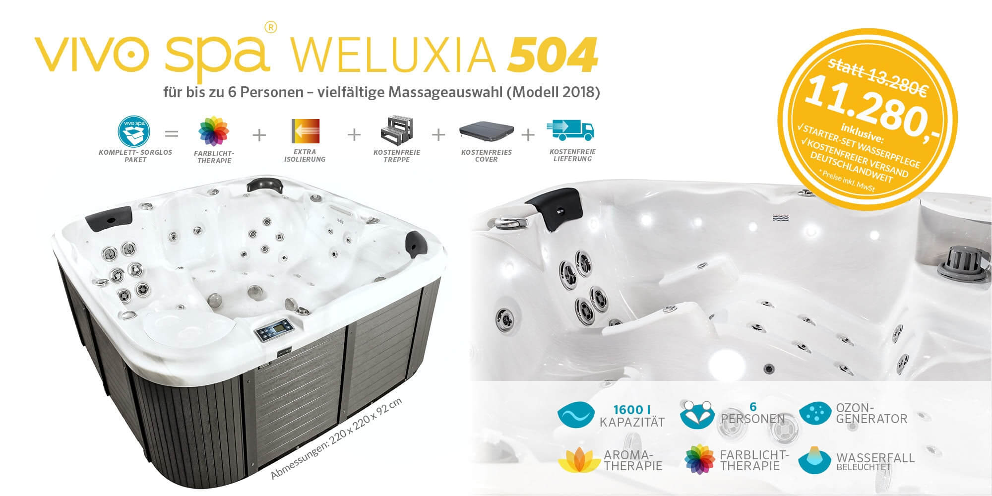Whirlpool Center vivo spa WELUXIA 504