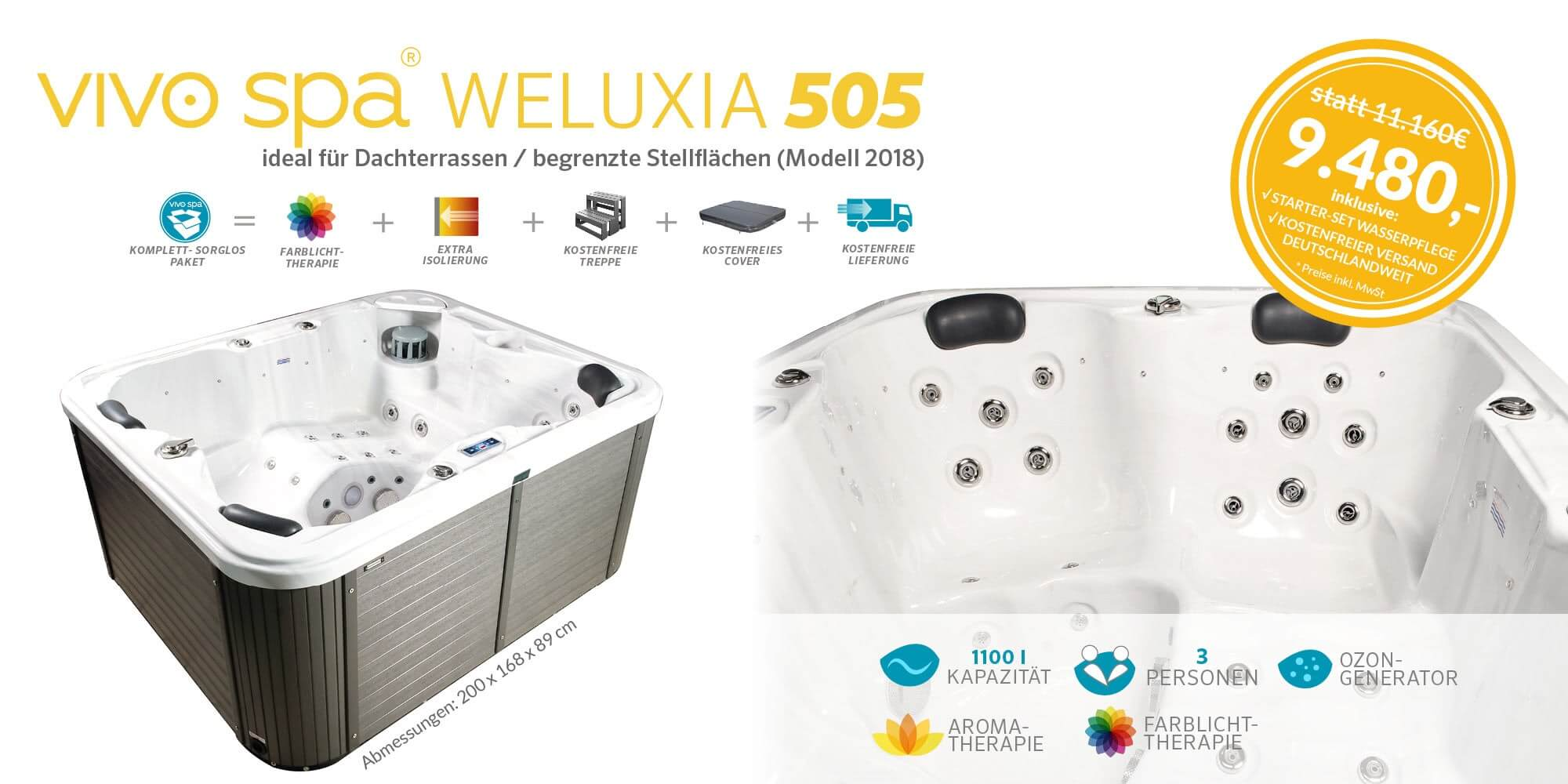 Whirlpool Center vivo spa WELUXIA 505