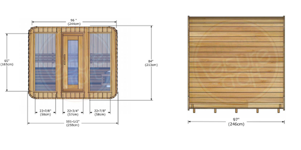 Dundalk Leisurecraft Luna-Sauna