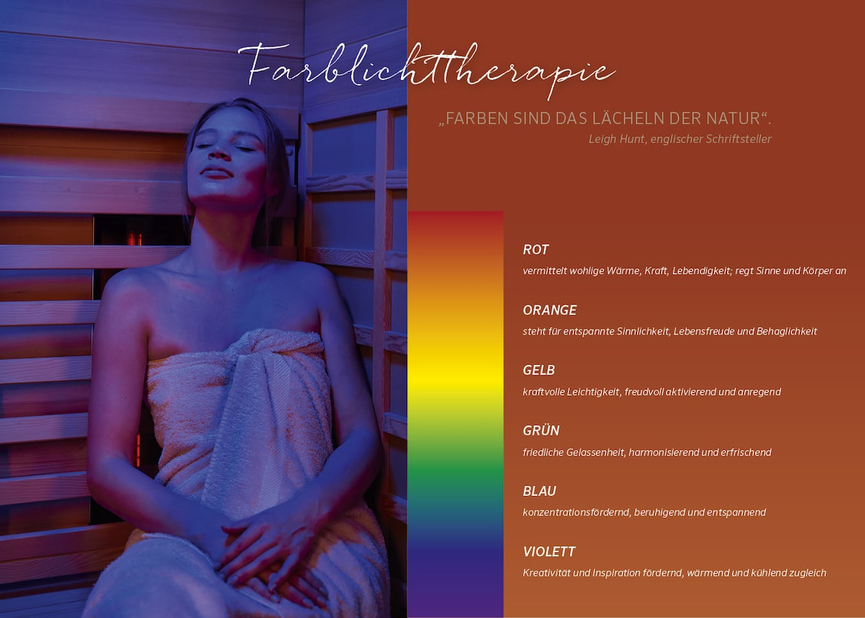 infrarotkabinen farblichttherapie