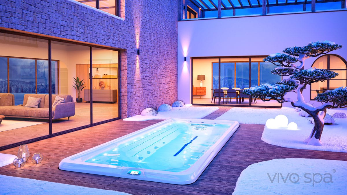 vivo spa swim spa winter